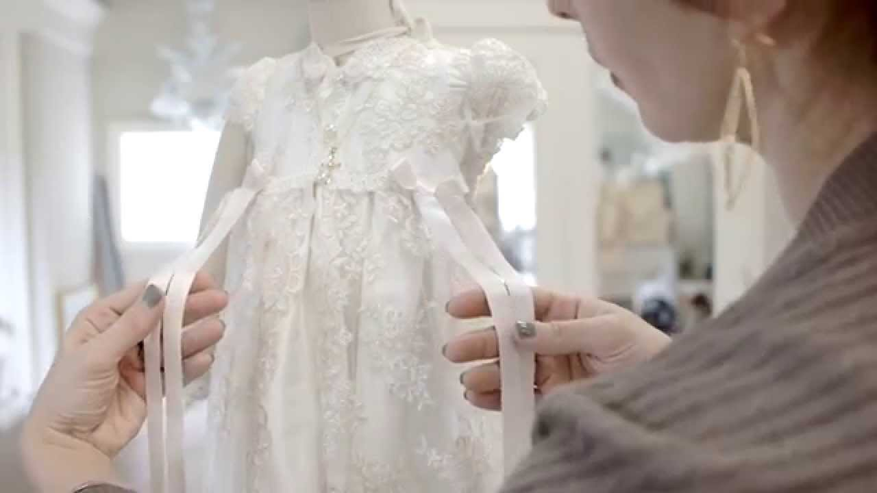 The Penelope Christening Gown by Baby Beau & Belle - YouTube