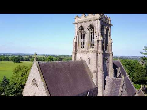 Belmont Abbey Herefordshire HD Drone Footage