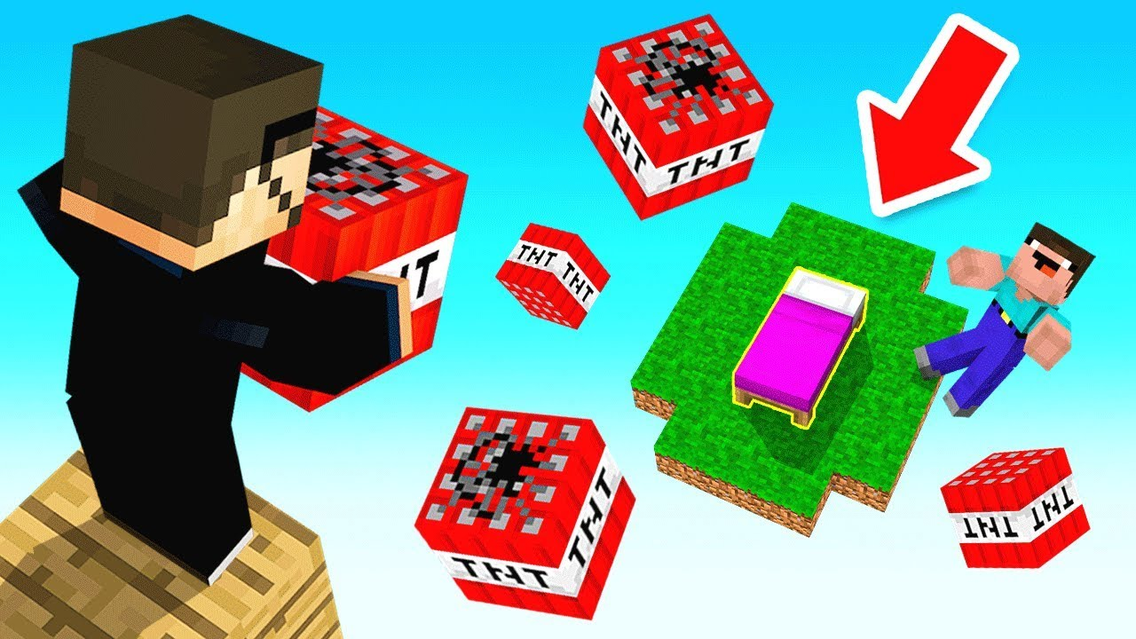 RAINING TNT STRATEGY (Minecraft Bed Wars)
