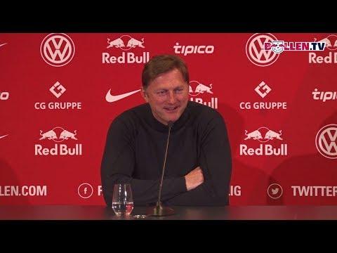 Die Pressekonferenz vor dem Heimspiel gegen den FC Bayern München