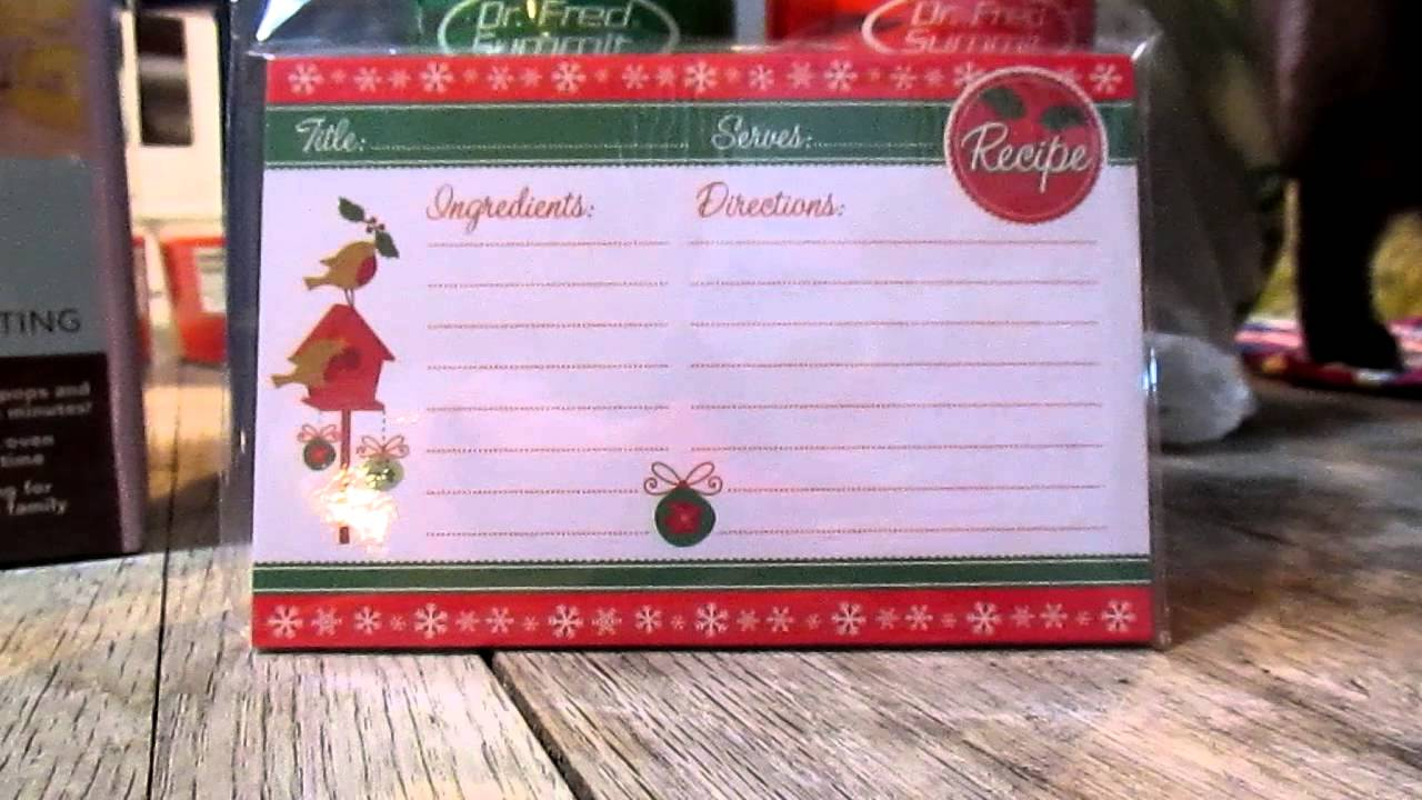 dollar tree christmas recipe cards