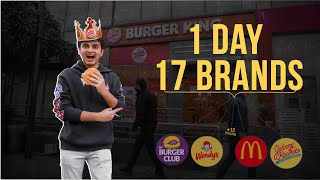 I Tried a BUŔGER of EVERY BRAND in 24 HOURS