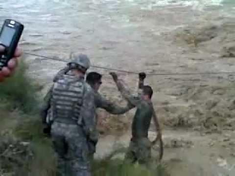 The Amircans Solders In Flood Of AfghanistaN.