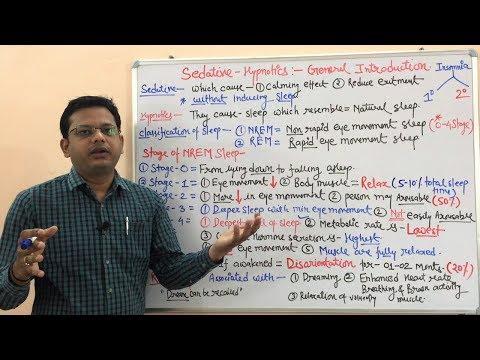 Sedative-Hypnotics (Part 01)- Basic Introduction And Stages Of Sleep. Hindi
