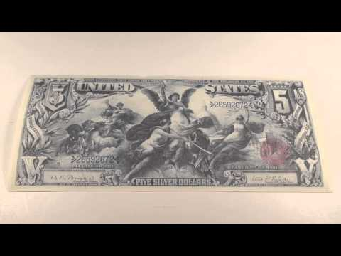 1896 $5 United States Educational Note Series
