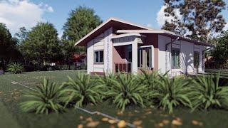 2 Bedroom Cottage House Plan