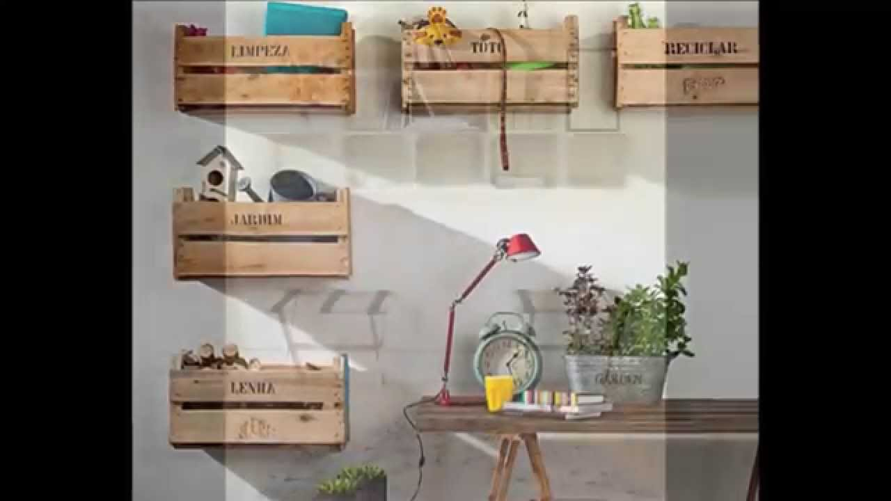 ideas de estanterias con cajas de fruta ideas of furniture made from fruit boxes youtube. Black Bedroom Furniture Sets. Home Design Ideas