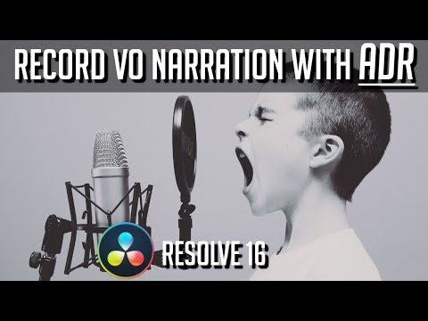Automatic Dialog Replacement (ADR) - Cues, Takes, and Layered Audio Editing - DaVinci Resolve 16