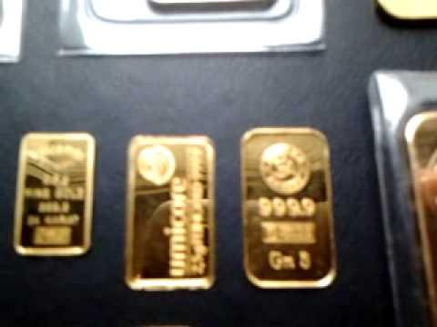 Vintage gold bar collection