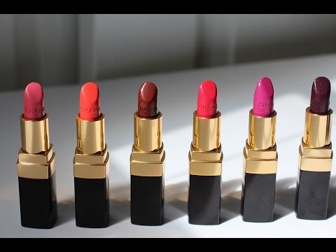 CHANEL ROUGE COCO Lipstick Review + Lip Swatches! 2015
