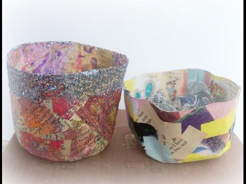 How to make paper mache bowls/ DIY papier mache bowl