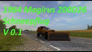 """[""""1964 Magirus 200D26 Schneepflug"""", """"Magirus 200D26"""", """"Mod Vorstellung Farming Simulator Ls17:1964 Magirus 200D26 Schneepflug V 0.1""""]"""