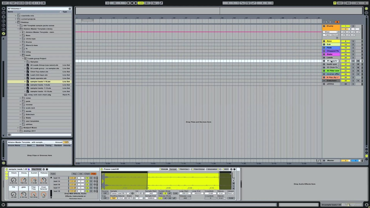 Full Master Template Download walkthrough | Ableton Tutorial ...