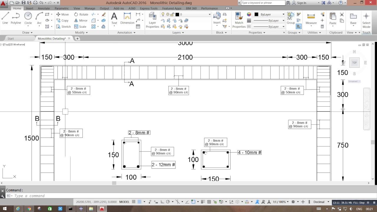 Part 2 RCC Portal Frame Modelling in ABAQUS - YouTube
