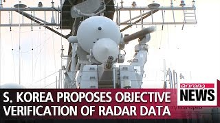 S. Korea proposes objective expert verification over recent radar spat with Japan