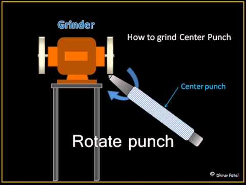 Center punch for ITI fitter with animated video