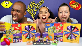 getlinkyoutube.com-BEAN BOOZLED CHALLENGE! Parents Eat Super Gross Jelly Beans Candy - Daddy Freaks Out