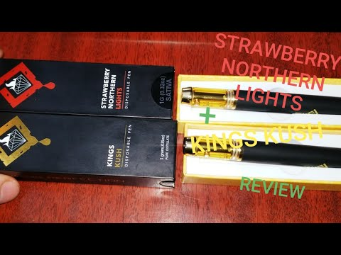 Kings Kush + Strawberry Northern Lights THC Vape Pen Review!