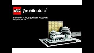 LEGO Architecture 21004 Музей Соломона Р. Гуггенхайма. Інструкція по збірці