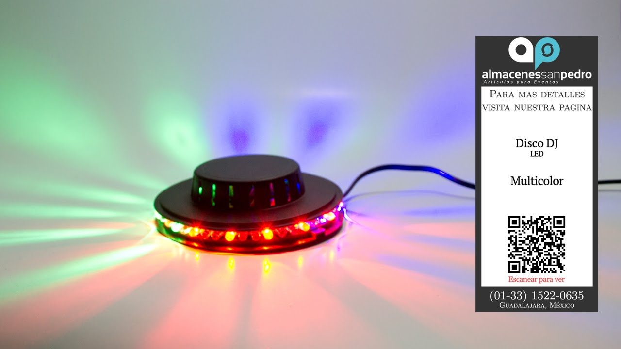 Disco UFO con luz LED para Iluminar Fiestas - YouTube