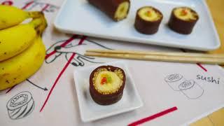 Chocolate Banana Sushi バナナ寿司