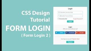 Cara membuat Form Login Dengan HTML dan CSS [ Desain 2 ]