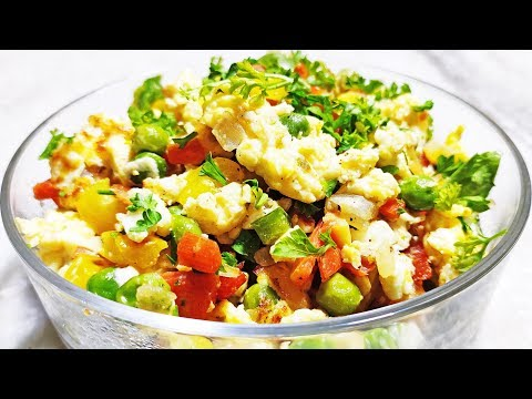 Veggie Egg Breakfast | Veggie Egg Scramble | Healthy Egg Salad Recipe | Egg and Vegetable Salad