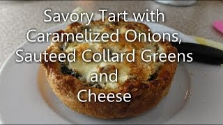Savory Tart With Onions, Greens And Cheese