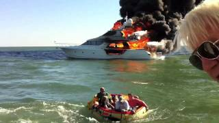 Motor Yacht Final Act burns and sinks
