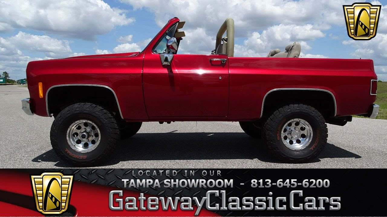 896 Tpa 1975 Chevrolet Blazer V 8 Small Block Th350 Youtube
