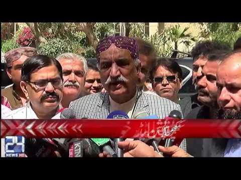 NA Opposition leader Khurshid Shah media Talk | 24 News HD