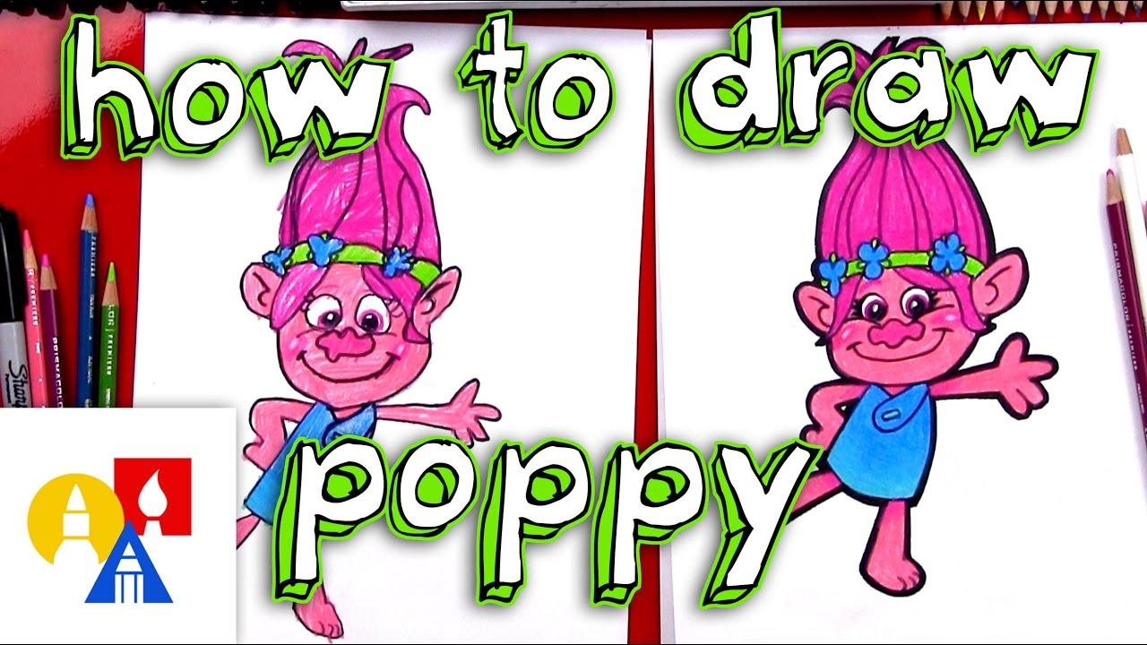 Uncategorized Art Pictures For Kids To Draw how to draw poppy from trolls youtube