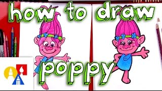 How To Draw Poppy From Trolls
