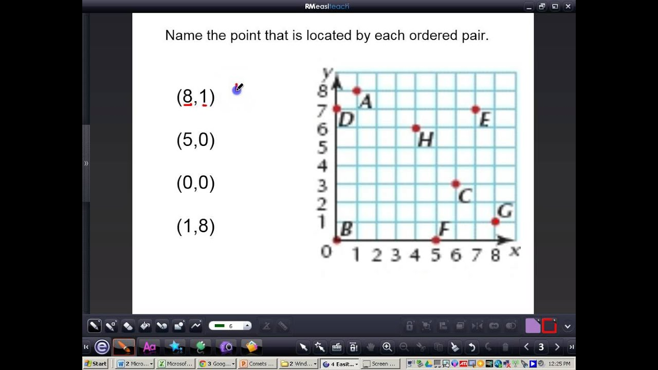 worksheet Ordered Pairs graphing ordered pairs youtube pairs