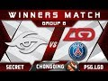 Secret vs PSG.LGD Winners Match Chongqing Major CQ Major Highlights 2019 Dota 2