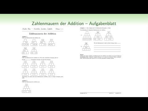 Mathe Plus 3 4 Zahlenmauern Der Addition Lösungsstrategien Youtube