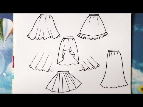 Hướng Dẫn Chi Tiết Vẽ Váy, Chân Váy - An Pi TV Coloring