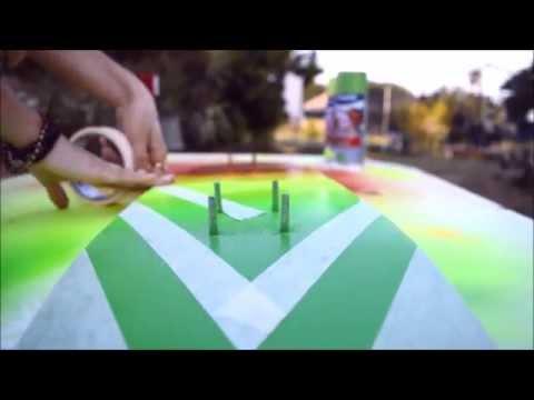 SOAP PAINTING || costum skateboard spray painting