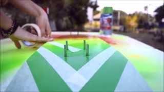 SOAP PAINTING    costum skateboard spray painting