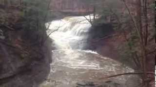 Water Raging Over Chair Factory Falls