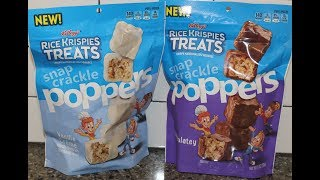 Kellogg's Rice Krispies Treats Snap Crackle Poppers: Vanilla Crème & Chocolatey Review