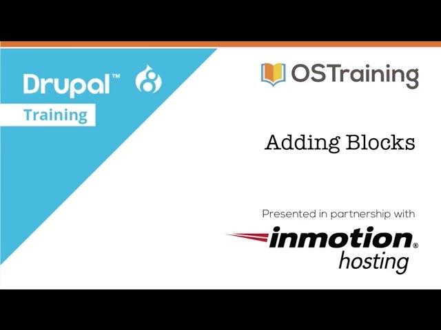Build Your First Drupal 8 Site, Lesson 8: Blocks