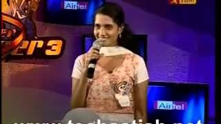 mahitha in airtel super singer 3