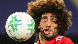 Marouane Fellaini's Face Gets F*CKED UP by Soccer Ball, Becomes the Greatest Meme of 2017