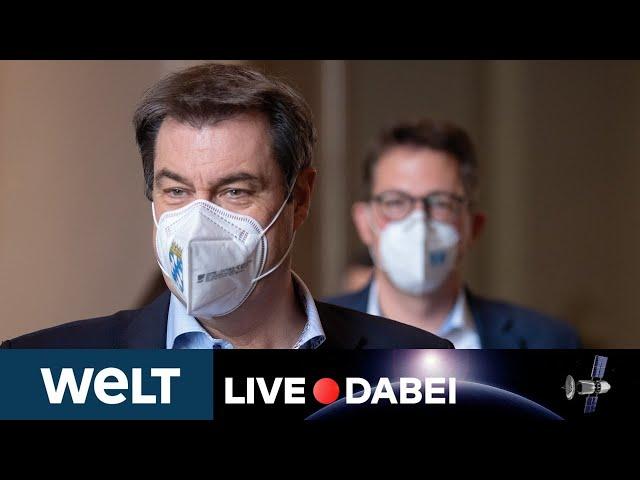 WELT LIVE DABEI: Statement von Markus Söder zum Machtkampf um Kanzlerkandidatur