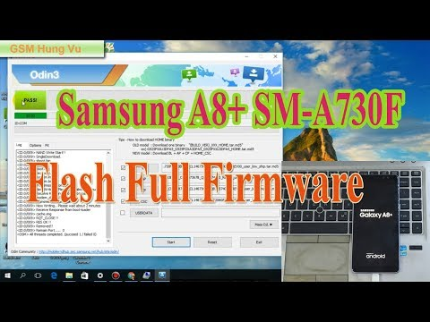 Flash Firmware Samsung A8 Plus SM-A730F Android 8.0 By Odin 3.13.1.