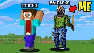 I Joined A Minecraft Server As Nightmare Baldi And Trolled My Best Friends Minecraft Prank