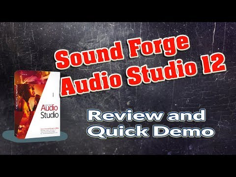 NEW Sound Forge Audio Studio 12 Review and Quick Demo