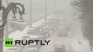 Blizzards in Moscow: Now that's what we ...