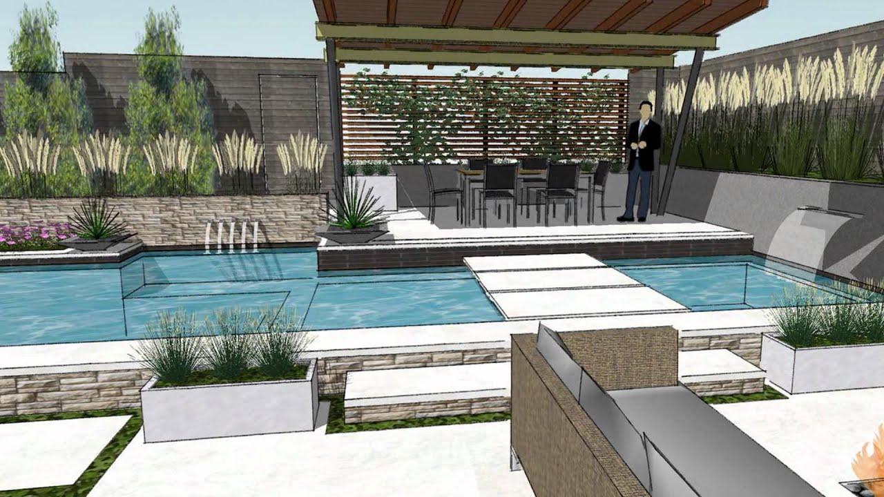 Kessler park modern swimming youtube for Modern swimming pool